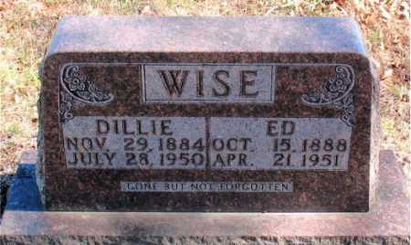 WISE, DILLIE - Carroll County, Arkansas | DILLIE WISE - Arkansas Gravestone Photos