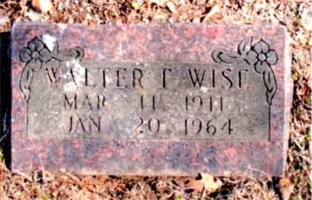 WISE, WALTER T. - Carroll County, Arkansas | WALTER T. WISE - Arkansas Gravestone Photos