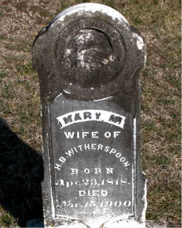 WITHERSPOON, MARY M - Carroll County, Arkansas | MARY M WITHERSPOON - Arkansas Gravestone Photos