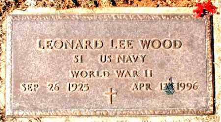 WOOD (VETERAN WWII), LEONARD LEE - Carroll County, Arkansas | LEONARD LEE WOOD (VETERAN WWII) - Arkansas Gravestone Photos