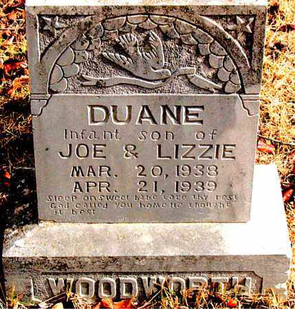 WOODWORTH, DUANE - Carroll County, Arkansas | DUANE WOODWORTH - Arkansas Gravestone Photos
