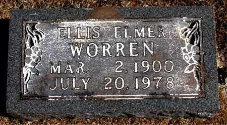 WORREN, ELLIS  ELMER - Carroll County, Arkansas | ELLIS  ELMER WORREN - Arkansas Gravestone Photos
