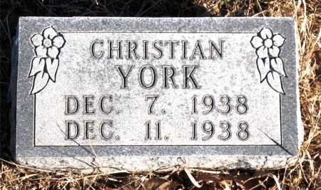 YORK, CHRISTIAN - Carroll County, Arkansas | CHRISTIAN YORK - Arkansas Gravestone Photos