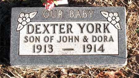 YORK, DEXTER - Carroll County, Arkansas | DEXTER YORK - Arkansas Gravestone Photos