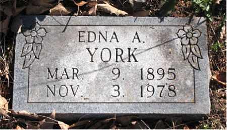 YORK, EDNA  A. - Carroll County, Arkansas | EDNA  A. YORK - Arkansas Gravestone Photos
