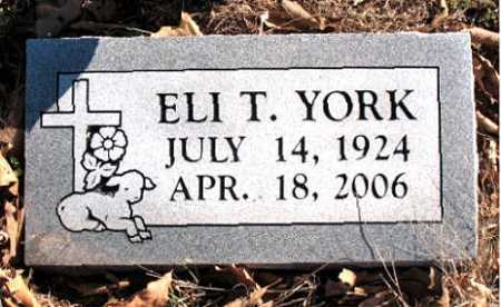 YORK, ELI  T. - Carroll County, Arkansas | ELI  T. YORK - Arkansas Gravestone Photos