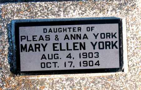 YORK, MARY ELLEN - Carroll County, Arkansas | MARY ELLEN YORK - Arkansas Gravestone Photos
