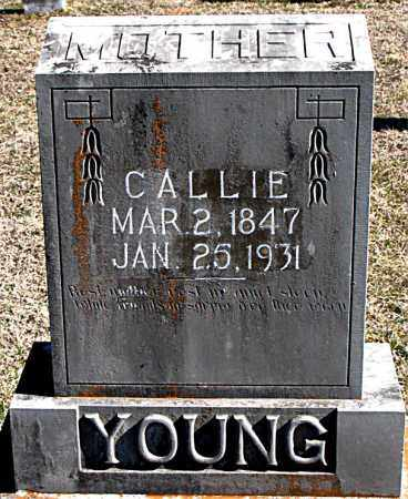YOUNG, CALLIE - Carroll County, Arkansas | CALLIE YOUNG - Arkansas Gravestone Photos