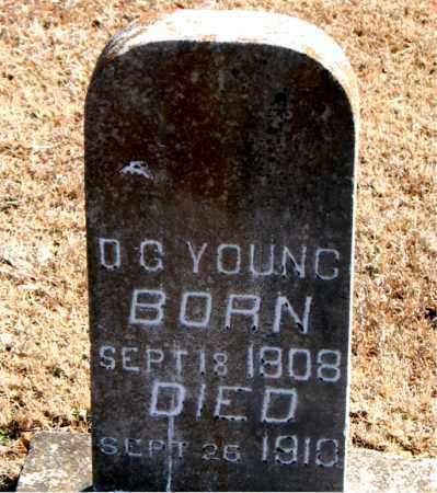 YOUNG, D. G. - Carroll County, Arkansas | D. G. YOUNG - Arkansas Gravestone Photos