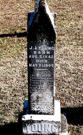 YOUNG, J A - Carroll County, Arkansas | J A YOUNG - Arkansas Gravestone Photos