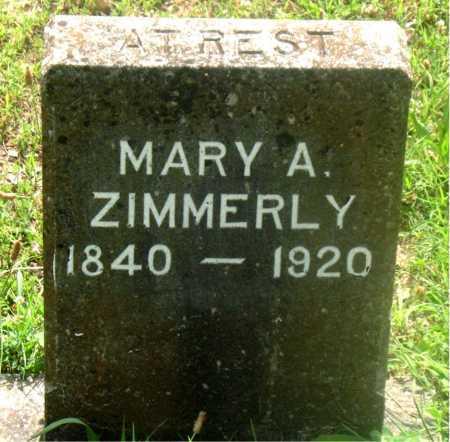 ZIMMERLY, MARY A. - Carroll County, Arkansas | MARY A. ZIMMERLY - Arkansas Gravestone Photos
