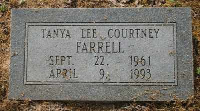 COURTNEY FARRELL, TANYA LEE - Chicot County, Arkansas | TANYA LEE COURTNEY FARRELL - Arkansas Gravestone Photos