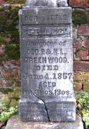GREENWOOD, GRACE - Chicot County, Arkansas | GRACE GREENWOOD - Arkansas Gravestone Photos