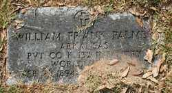 PALMER (VETERAN WWI), WILLIAM FRANK - Chicot County, Arkansas | WILLIAM FRANK PALMER (VETERAN WWI) - Arkansas Gravestone Photos