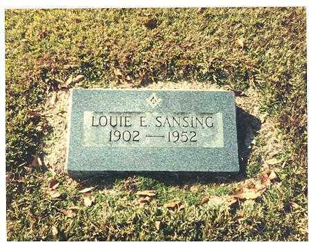 SANSING, LOUIE - Chicot County, Arkansas | LOUIE SANSING - Arkansas Gravestone Photos