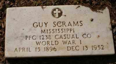 SCRAMS (VETERAN WWI), GUY - Chicot County, Arkansas | GUY SCRAMS (VETERAN WWI) - Arkansas Gravestone Photos