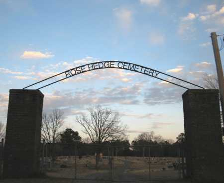 *ROSE HEDGE CEMETERY, ENTRANCE - Clark County, Arkansas | ENTRANCE *ROSE HEDGE CEMETERY - Arkansas Gravestone Photos