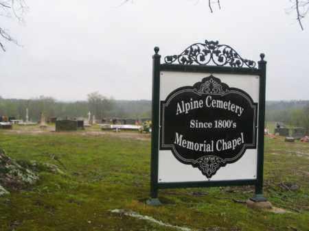 *ALPINE CEMETERY, SIGN - Clark County, Arkansas | SIGN *ALPINE CEMETERY - Arkansas Gravestone Photos
