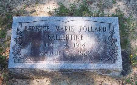 POLLARD BALLENTINE, BERNICE MARIE - Clark County, Arkansas | BERNICE MARIE POLLARD BALLENTINE - Arkansas Gravestone Photos