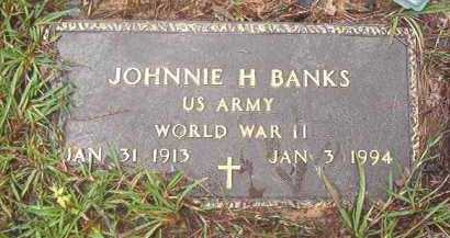 BANKS (VETERAN WWII), JOHNNIE H - Clark County, Arkansas | JOHNNIE H BANKS (VETERAN WWII) - Arkansas Gravestone Photos