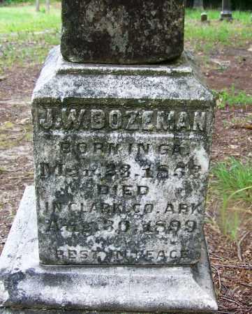 BOZEMAN, J. W. - Clark County, Arkansas | J. W. BOZEMAN - Arkansas Gravestone Photos