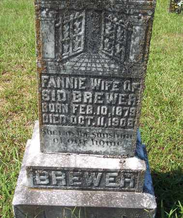 BREWER, FANNIE - Clark County, Arkansas | FANNIE BREWER - Arkansas Gravestone Photos