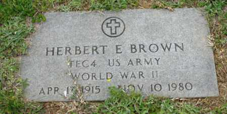 BROWN (VETERAN WWII), HERBERT E - Clark County, Arkansas | HERBERT E BROWN (VETERAN WWII) - Arkansas Gravestone Photos