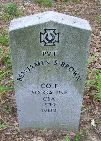 BROWN (VETERAN CSA), BENJAMIN S - Clark County, Arkansas | BENJAMIN S BROWN (VETERAN CSA) - Arkansas Gravestone Photos