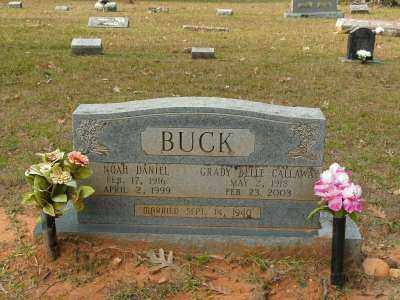 CALLAWAY BUCK, GRADY BELLE - Clark County, Arkansas | GRADY BELLE CALLAWAY BUCK - Arkansas Gravestone Photos