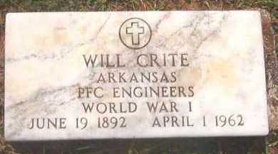 CRITE (VETERAN WWI), WILL - Clark County, Arkansas | WILL CRITE (VETERAN WWI) - Arkansas Gravestone Photos