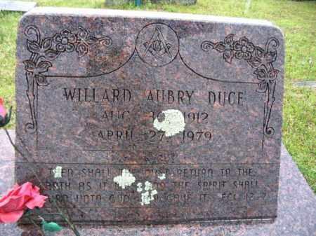 DUCE, WILLARD AUBRY - Clark County, Arkansas   WILLARD AUBRY DUCE - Arkansas Gravestone Photos