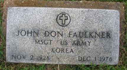 FAULKNER (VETERAN KOR), JOHN DON - Clark County, Arkansas | JOHN DON FAULKNER (VETERAN KOR) - Arkansas Gravestone Photos
