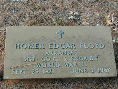 FLOYD (VETERAN WWII), HOMER EDGAR - Clark County, Arkansas | HOMER EDGAR FLOYD (VETERAN WWII) - Arkansas Gravestone Photos
