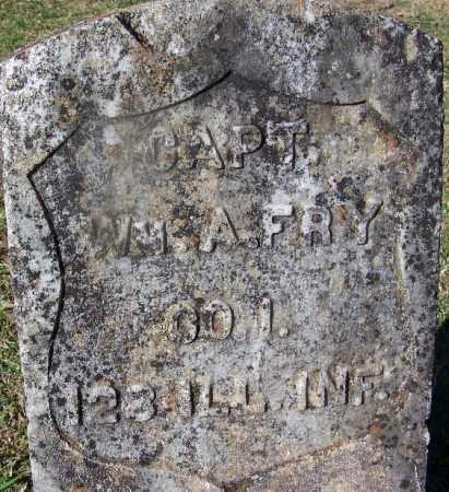 FRY (VETERAN UNION), WILLIAM A - Clark County, Arkansas   WILLIAM A FRY (VETERAN UNION) - Arkansas Gravestone Photos