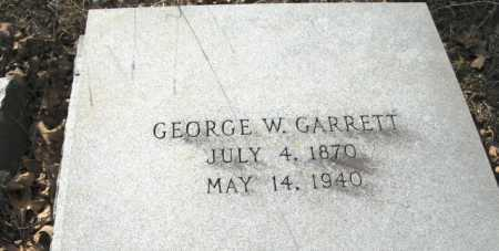 GARRETT, GEORGE W. (CLOSE UP) - Clark County, Arkansas | GEORGE W. (CLOSE UP) GARRETT - Arkansas Gravestone Photos
