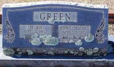 GREEN, MINNIE BEATRICE - Clark County, Arkansas | MINNIE BEATRICE GREEN - Arkansas Gravestone Photos
