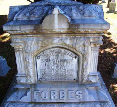 FORBES HEARD, MARY - Clark County, Arkansas | MARY FORBES HEARD - Arkansas Gravestone Photos