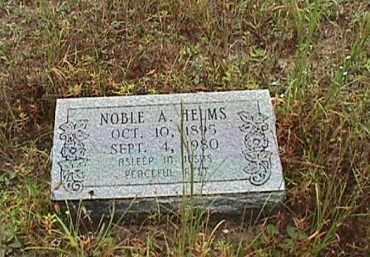 HELMS, NOBLE  A. - Clark County, Arkansas | NOBLE  A. HELMS - Arkansas Gravestone Photos