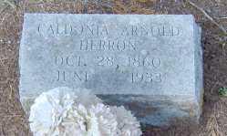 ARNOLD HERRON, CALDONIA - Clark County, Arkansas | CALDONIA ARNOLD HERRON - Arkansas Gravestone Photos