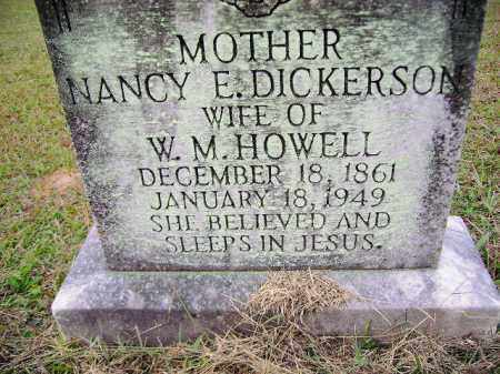 DICKERSON HOWELL, NANCY E. - Clark County, Arkansas | NANCY E. DICKERSON HOWELL - Arkansas Gravestone Photos