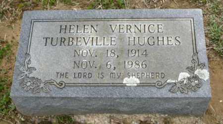 TURBEVILLE HUGHES, HELEN VERNICE - Clark County, Arkansas | HELEN VERNICE TURBEVILLE HUGHES - Arkansas Gravestone Photos
