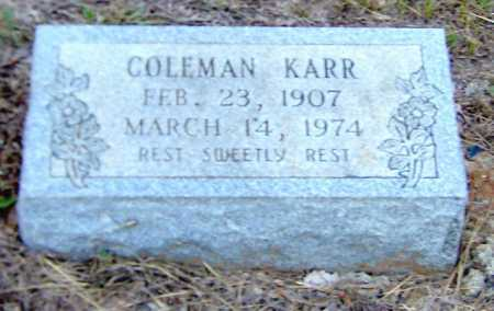 KARR, COLEMAN - Clark County, Arkansas | COLEMAN KARR - Arkansas Gravestone Photos