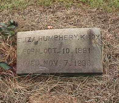 HUMPHERY KNOX, ELIZA - Clark County, Arkansas | ELIZA HUMPHERY KNOX - Arkansas Gravestone Photos