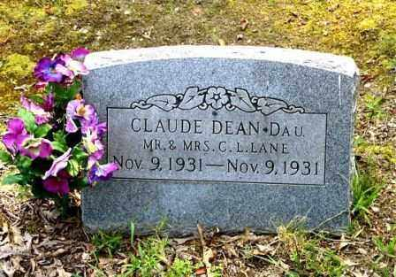 LANE, CLAUDE DEAN - Clark County, Arkansas | CLAUDE DEAN LANE - Arkansas Gravestone Photos