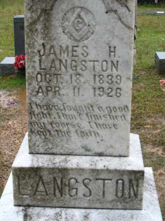 LANGSTON, JAMES H. - Clark County, Arkansas | JAMES H. LANGSTON - Arkansas Gravestone Photos