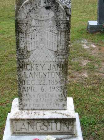 LANGSTON, MICKEY JANE - Clark County, Arkansas | MICKEY JANE LANGSTON - Arkansas Gravestone Photos