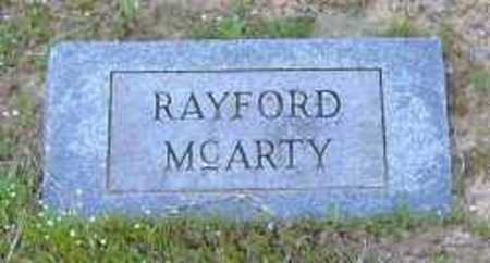 MCARTY, RAYFORD - Clark County, Arkansas | RAYFORD MCARTY - Arkansas Gravestone Photos