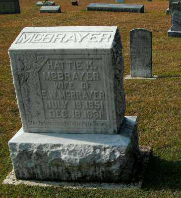 MCBRAYER, HATTIE K. - Clark County, Arkansas | HATTIE K. MCBRAYER - Arkansas Gravestone Photos