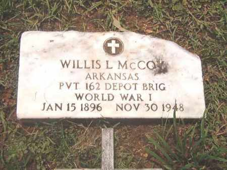 MCCOY (VETERAN WWI), WILLIS L - Clark County, Arkansas | WILLIS L MCCOY (VETERAN WWI) - Arkansas Gravestone Photos