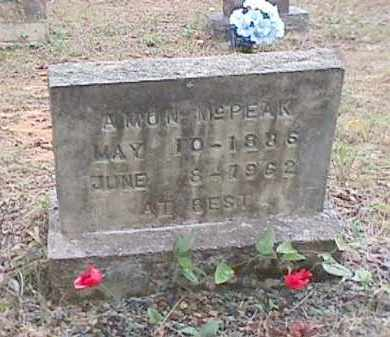 MCPEAK, AMON - Clark County, Arkansas | AMON MCPEAK - Arkansas Gravestone Photos